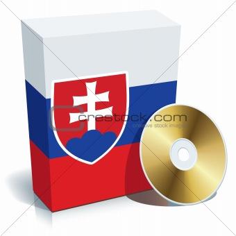 Slovak software box and CD