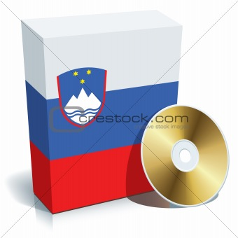 Slovenian software box and CD