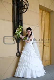bride near the wall