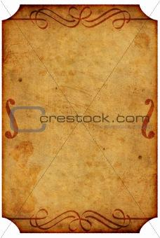 old poster design