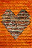 brick wall with heart shape