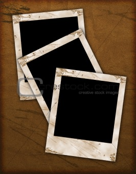 old paper texture with photo frames