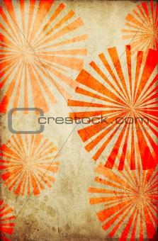 grunge circle ray design