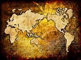 world map vintage design