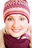 smiling girl in winter coat