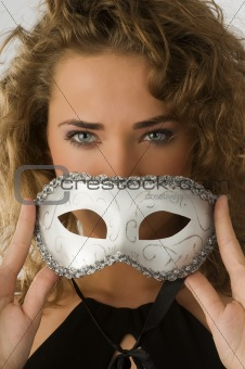 carnival mask blue eyes