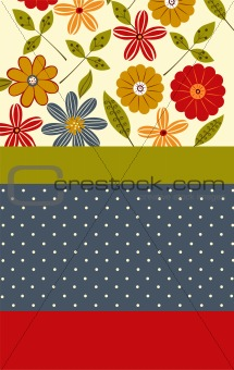 floral pattern card