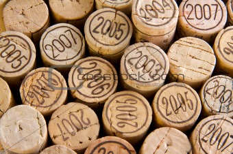 background shot of wine corks
