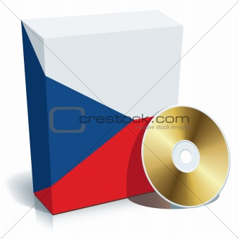 Czech software box and CD