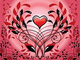 spirial decorative patten and heart