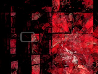 Abstract background. Black - red palette.