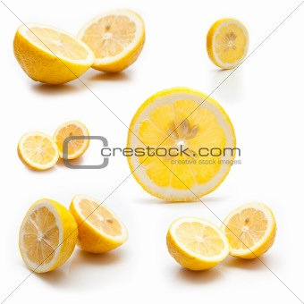 6 photos of a lemon