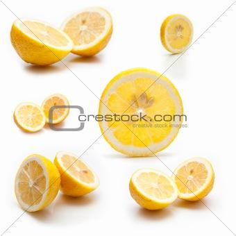 6 photos of a lemon