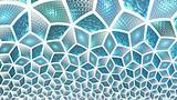 Radiant Blue Cubes