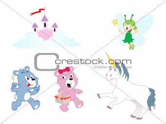 Assorted characters - Girls theme