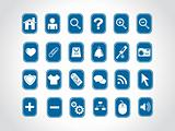 vector blue web icons series