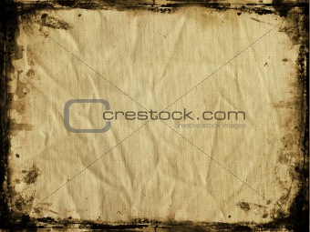 Grunge canvas with border