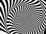 Black and White Striped Spiral 1