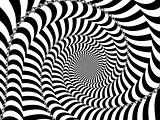 Black and White Striped Spiral 2