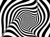 Black and White Striped Spiral 3