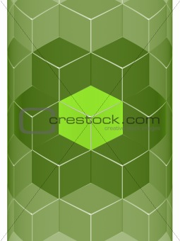 Green Cube Wall