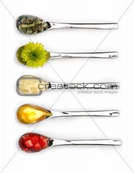 Five spoons