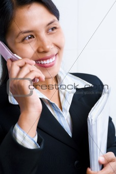 Asian businesswoman on the phone