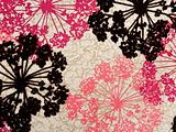 Abstract Cotton Fabric Contemporary Floral Background Pattern