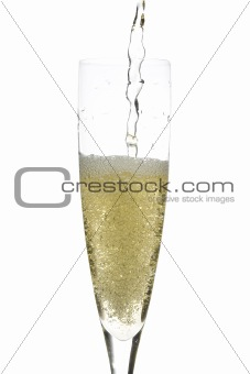 Champagne glass celebration