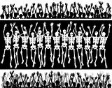 Skeleton crowd