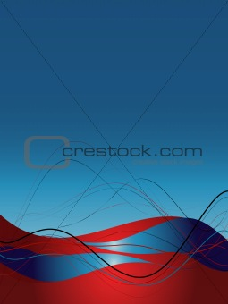 Background with abstract smooth lines