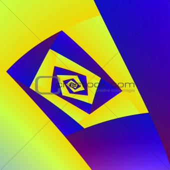 Blue And Yellow Suare Spiral