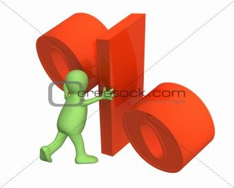 3d puppet, installing symbol percent