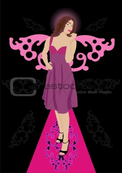 Beautiful lady with wings