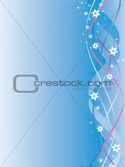 ribbons with colors on a blue background
