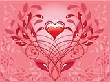 spiral decorative pattern and heart