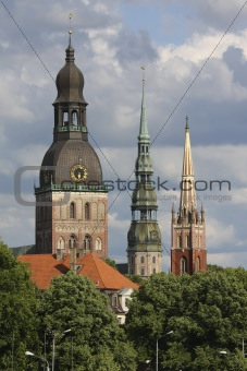 Three towers of Riga