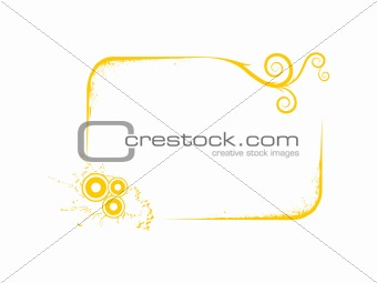 framework with yellow abstract element