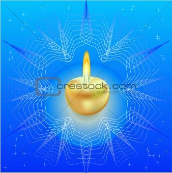 Ahristmas candle