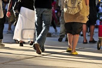 Walking people