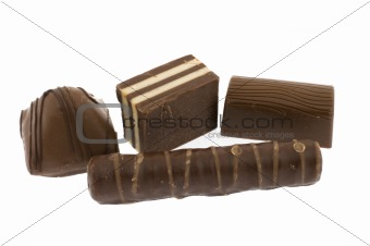 Four chocolate sweets