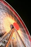 Ferris wheel close-up
