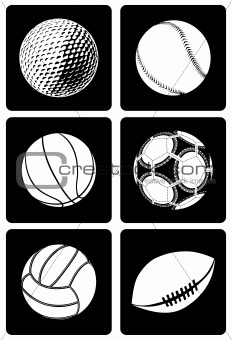 Six Type of Sport Ball