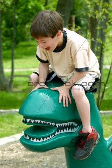 Boy Laughing Having Fun Playing