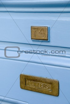 Old fashioned letter box