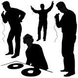 DJs 01 - Deejay silhouettes