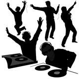 DJs 02 - Deejay silhouettes
