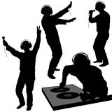 DJs 03 - Deejay silhouettes