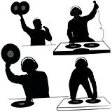 DJs 06 - Deejay silhouettes