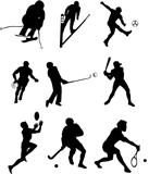 Sports Types Silhouette